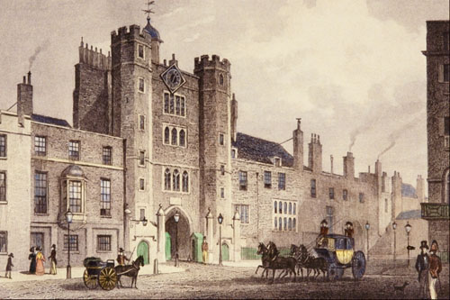 st james's palace by Thomas Hosmer Shepherd