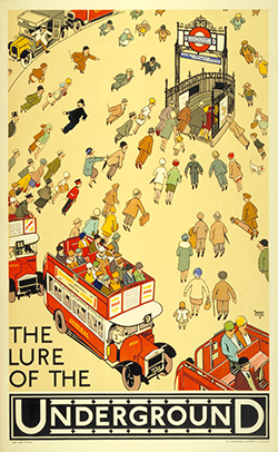 124. The lure of the Underground, by Alfred Leete, 1927b
