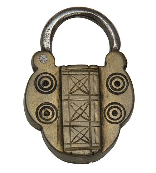 Padlock token mid eighteenth century. Copyright Foundling Museum London