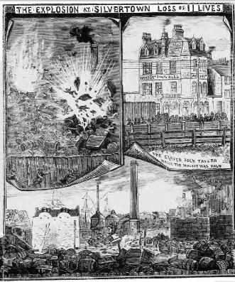 Explosion At Silverown Police News April 1880